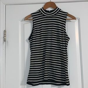 Sleeveless striped shirt